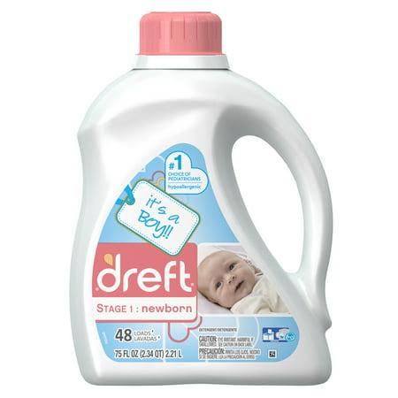 Dreft Stage 1: Newborn Liquid Laundry Detergent, 48 Loads 75 fl oz