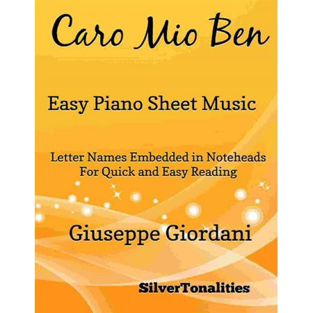 Caro Mio Ben Easy Piano Sheet Music - eBook - This Is Halloween Sheet Music Piano Easy