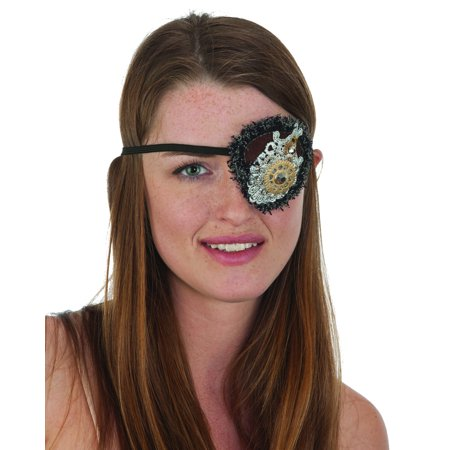 Adults Futuristic Steampunk Wild West Cowboy Outlaw Eye Patch Costume - Outlaw Cowboy Costume