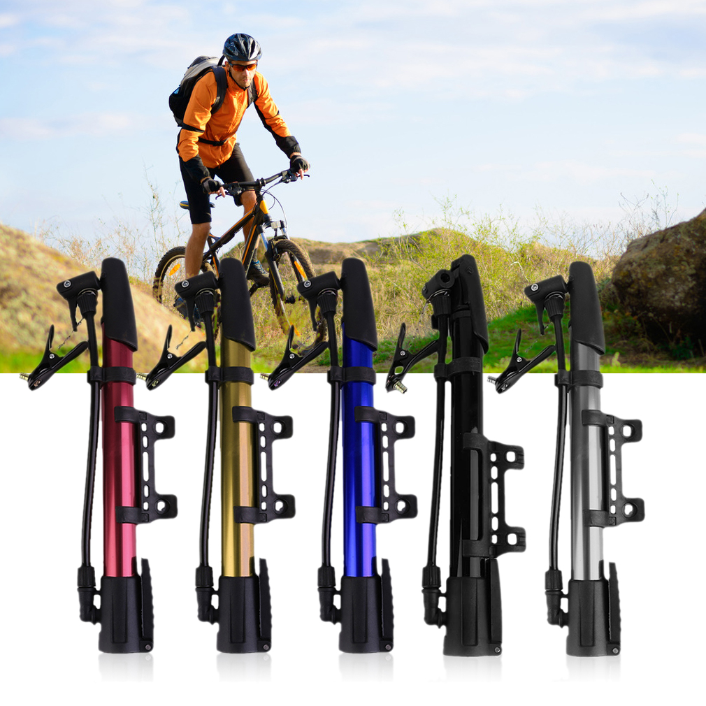 Inflator Bike Pump Aluminum Alloy Mini Portable Cycling Bicycle Tire Pump