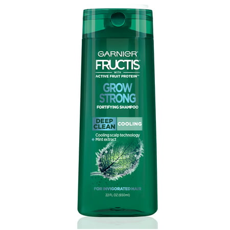 Garnier Fructis Grow Strong Cooling Deep Clean Shampoo for Men for Invigorated Hair, 22 fl. (Best Way To Grow Hair Quickly)