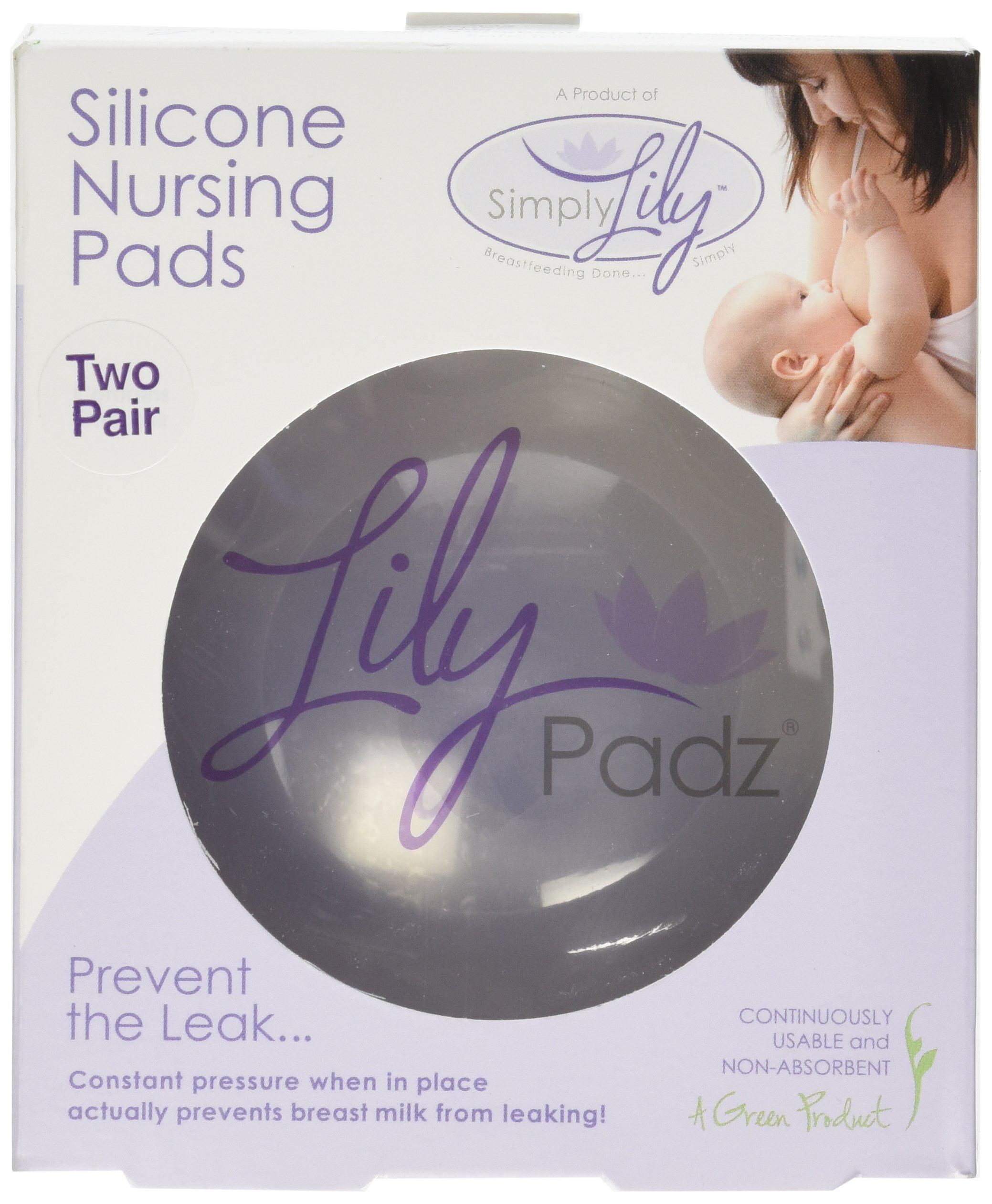 LilyPadz Reusable Silicone Nursing Pads Double Pair Regular Size by LilyPadz