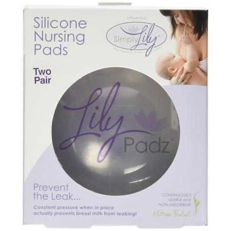 LilyPadz® Reusable Silicone Nursing Pads Double Pair Regular (Lilypadz Nursing Pad)