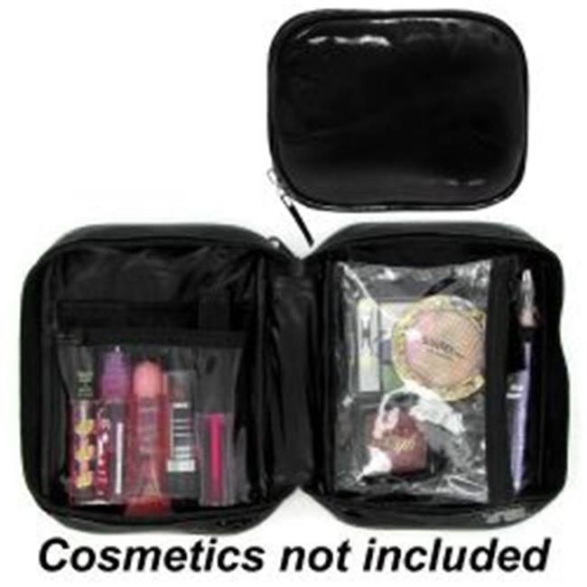 Deluxe Buy 8-JC843 4 Slot Clear Cosmetic Bag Heavy Duty Plastic Case - 5 x 7 inch - Pack of 100