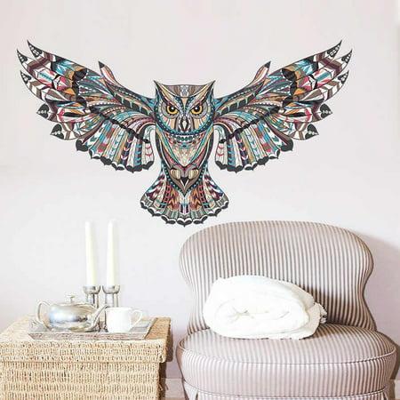 Creative Large Owl Removable Wall Sticker Art Vinyl Decal Mural Home Bedroom Decor - image 2 de 5