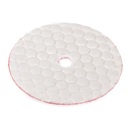 3-Inch Dry Diamond Polishing Pads Hook and Loop Flocking Back for Granite Marble Stone 500#
