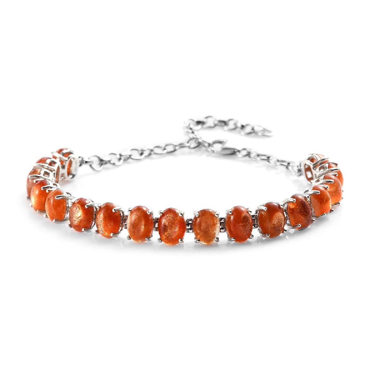 Feldspar Beaded Bracelet Gift Idea Gift For Her Mother/'s Day Birthday