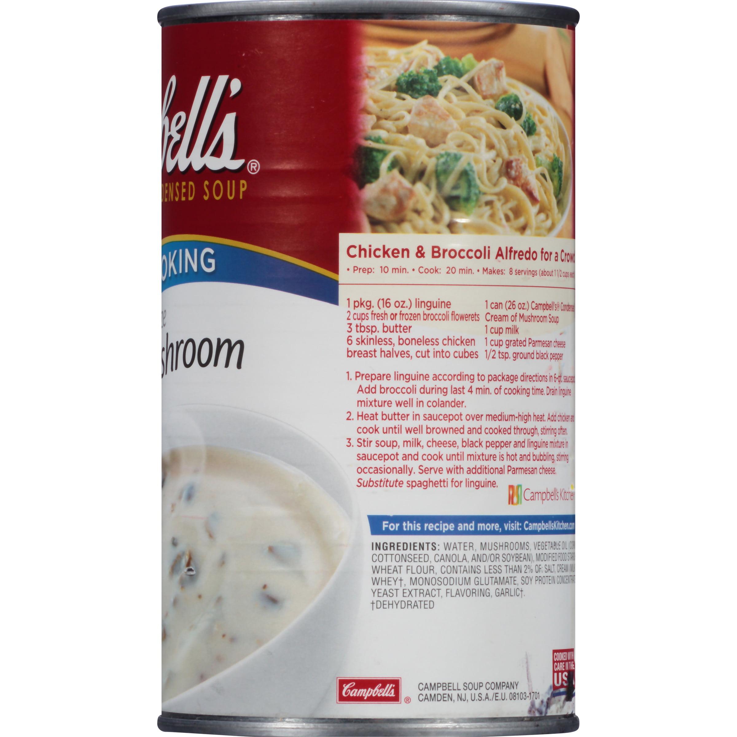 Campbellu0027s Cream Of Mushroom Family Size Ru0026W Condensed Soup, 26 Oz    Walmart.com