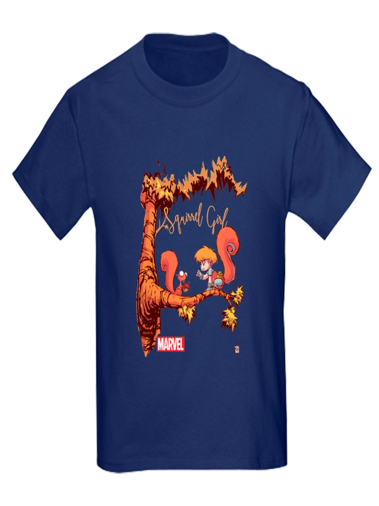 CafePress - Squirrel Girl Branch Kids Dark T Shirt - Kids Dark T-Shirt