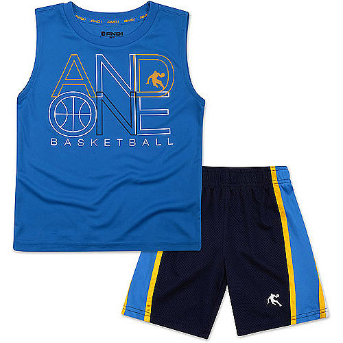 AND1 Baby Toddler Boy Athletic Graphic Tank and Shorts Outfit Set