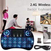 Mini W ireless 2.4GHz i8 USB Air Mouse W ireless Keyboard