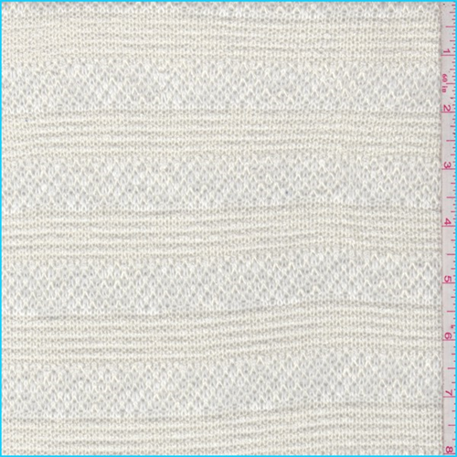 Buttercream Pointelle Stripe Sweater Knit, Fabric By the Yard