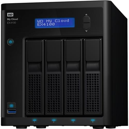 WD My Cloud Business Series EX4100, 8TB, 4-Bay Pre-configured NAS with WD Red™ Drives - Marvell ARM 388 Dual-core