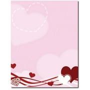 Hearts & Swirls Letterhead Laser & Inkjet Printer Paper