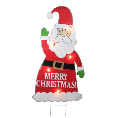 3' Lighted Santa Claus