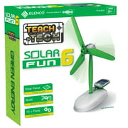 Teach Tech Solar Fun 6 | Build-It-Yourself 6-in-1 Solar Powered Robot | STEM Educational Toys for Kids Age 8+