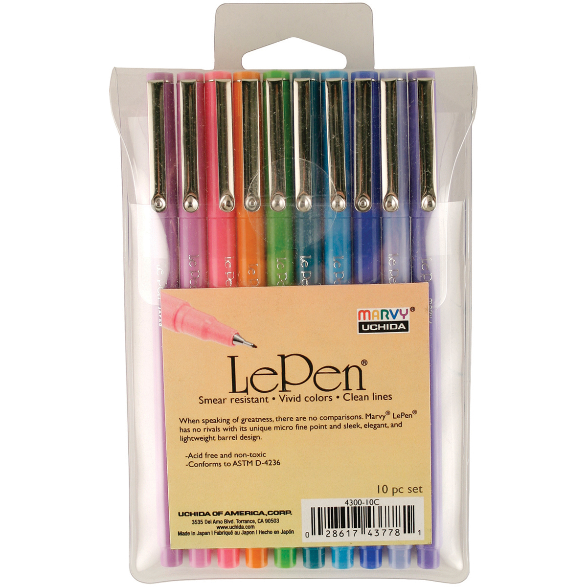 Le Pen Bright Set 10/Pkg-Assorted Colors