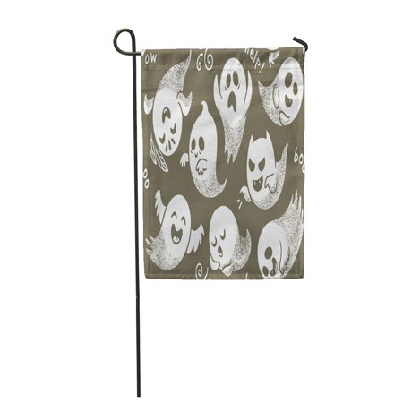 LADDKE Halloween of Cute Cartoon Ghosts Different Faces Pattern Boo Garden Flag Decorative Flag House Banner 12x18 inch](Different Halloween)
