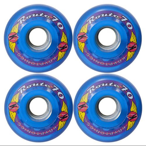 KRYPTONICS ROUTE 70MM 78A BLUE Longboard Cruiser Skateboard Wheels
