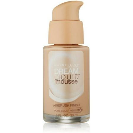 Maybelline Dream Liquid Mousse Airbrush Foundation, Pure Beige, Medium [2] 1 oz