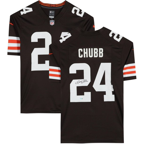 Nick Chubb Cleveland Browns Autographed Blue Limited Jersey - Fanatics Authentic Certified