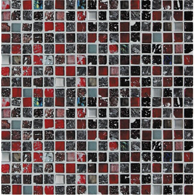 Intrend Tile Hand Color Stone And Metal Square Sliver Mixed