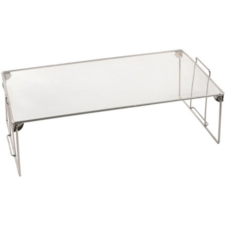 Ybm Home Stackable Mesh Shelf Silver Storage Rack for ...