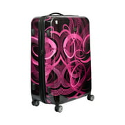 FUL Atomic 24 Inch Spinner Rolling Luggage Suitcase, ABS Hard Case, Upright, Pink