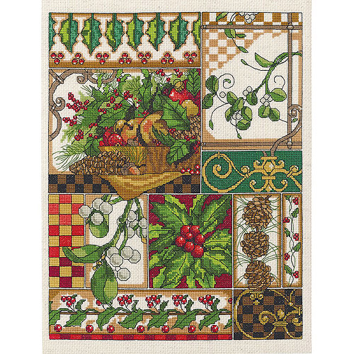 "Winter Montage Counted Cross Stitch Kit, 11"" x 14"", 14 Count"
