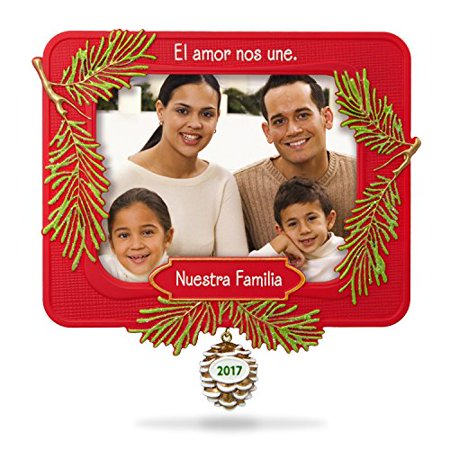 Hallmark Keepsake 2017 Nuestra Familia Picture Frame Dated Christmas Ornament (Photo Frame Ornament)