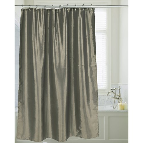 """Shimmer"" Faux Silk Shower Curtain in Sage"