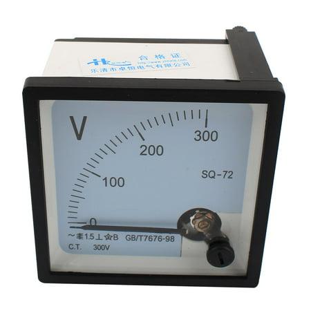 Unique Bargains SQ-72 Class 1.5  0-300V Voltage Analog Square Voltmeter Panel Volt (Analog Micro Voltmeter)