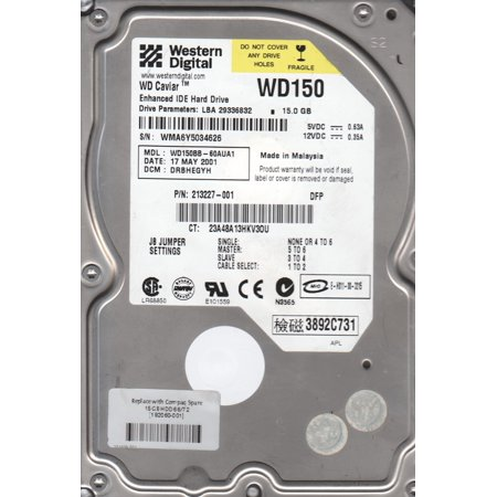WD150BB-60AUA1, DCM DRBHEGYH, Western Digital 15GB IDE 3.5 Hard Drive