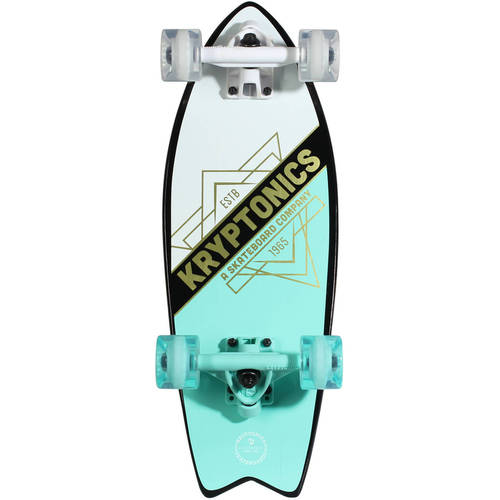 "Kryptonics Mini Fish Cruiser Complete Skateboard, 23"" x 8.0"""