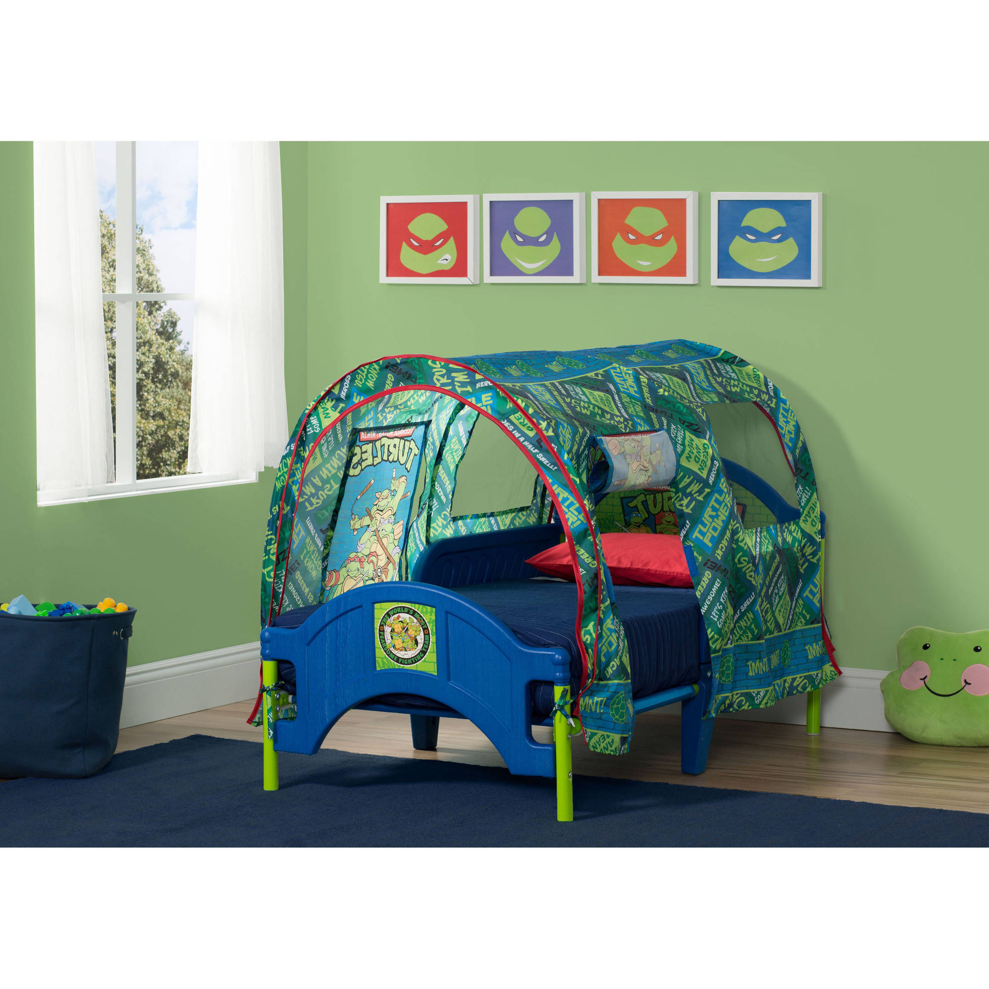 sc 1 st  Walmart & Teenage Mutant Ninja Turtles Toddler Bed with Tent - Walmart.com