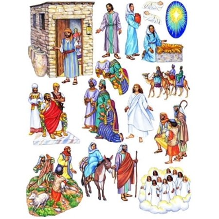 Birth of Jesus Christmas Nativity Bible Felt Figures For Flannel Board Stories