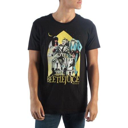 Beetlejuice Black T-Shirt-X-Large (Black Beetlejuice)