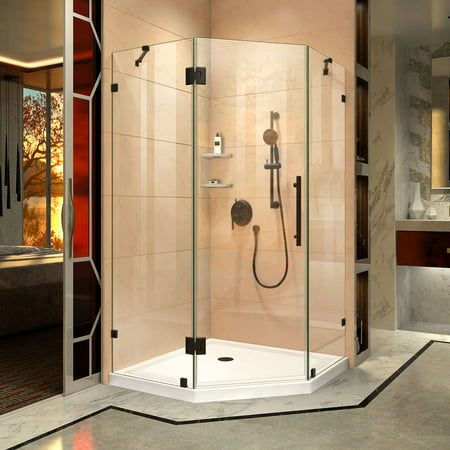 DreamLine Prism Lux 36 5/16 in. x 72 in. Fully Frameless Neo-Angle Hinged Shower Enclosure in Oil Rubbed