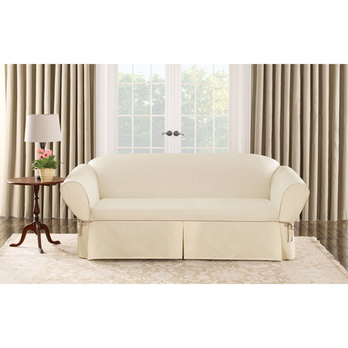 Sure Fit Cotton Duck Sofa Slipcover by Sure Fit