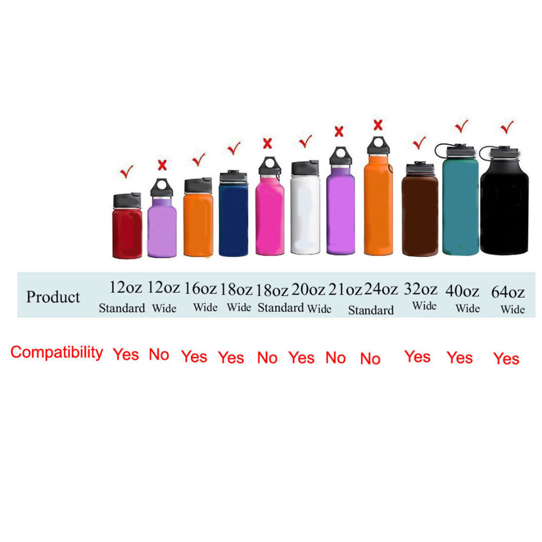Womail For HYDRO FLASK Straw Flip Lid Cap 18 32 40 64oz Wide Mouth Water Bottle