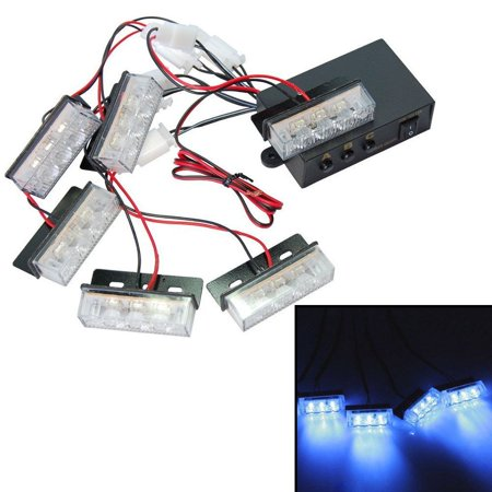 Stupendous Hqrp Blue 18 Led Emergency Vehicle Strobe Flash Lights For Front Wiring Digital Resources Llinedefiancerspsorg