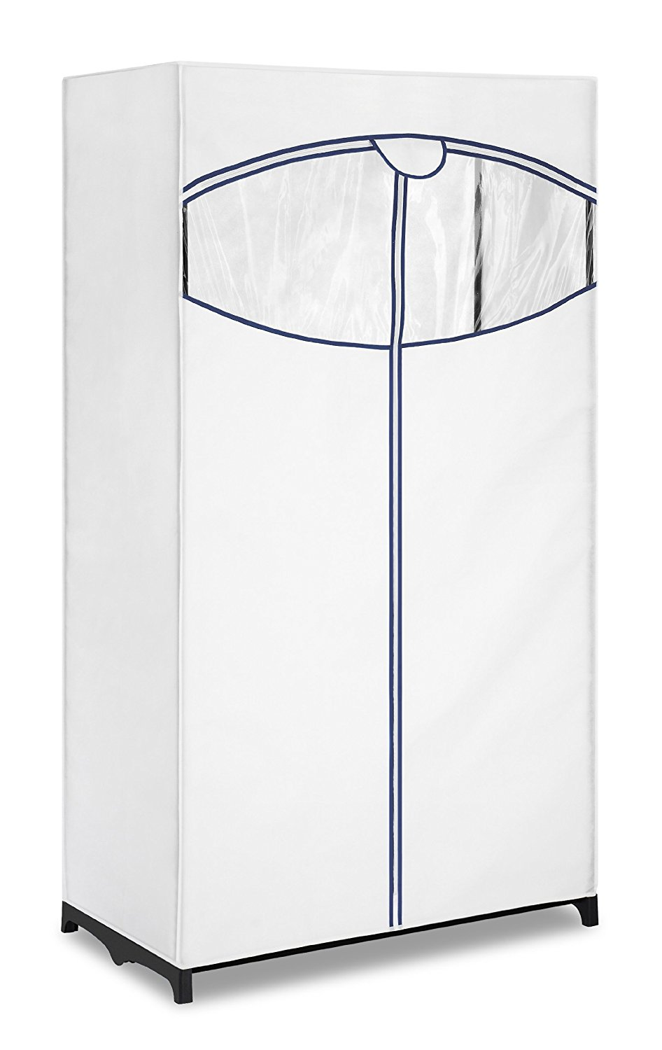 Freestanding Garment Organizer with White... Whitmor Extra Wide Clothes Closet