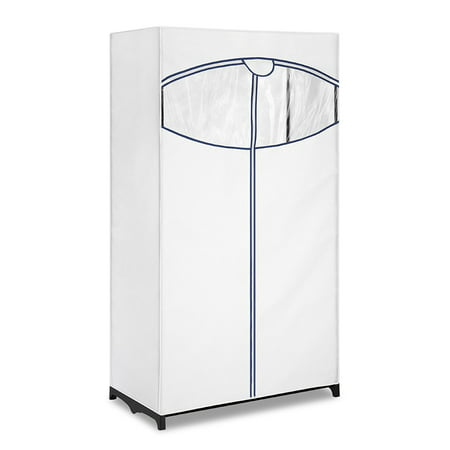 Whitmor Clothes Closet with White Fabric Cover