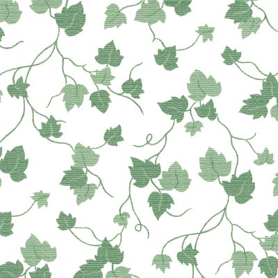 """""""Deluxe Flannel Backed Vinyl 54"""""""" Wide 15yd Roll-Green Ivy On White"""""""