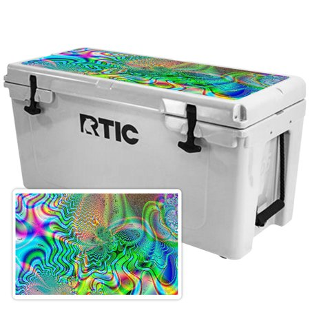 Skin for RTIC 65 Cooler Lid (2017 Model) - Psychedelic| MightySkins Protective, Durable, and Unique Vinyl Decal wrap cover  | Easy To Apply, Remove, and Change Styles | Made in the USA