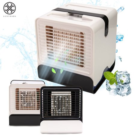Luxtrada Personal Space Cooler Portable Air Conditioning Conditioner Fan Low Noise Humidifier and Purifier for Office Home Outdoor Travel USB