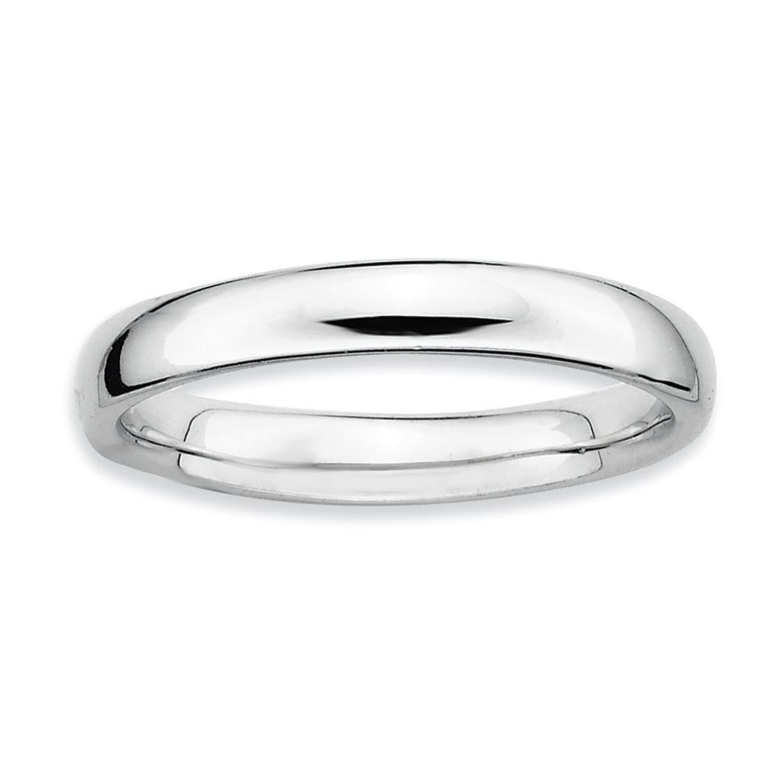 925 Sterling Silver Band Ring Size 7.00 Stackable Smooth Fine Jewelry Gifts For Women For Her - image 4 of 4
