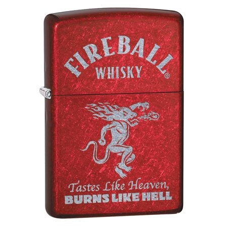 Zippo Candy Apple (Zippo Lighter: Fireball Whisky Logo, Engraved - Candy Apple Red 80037 )