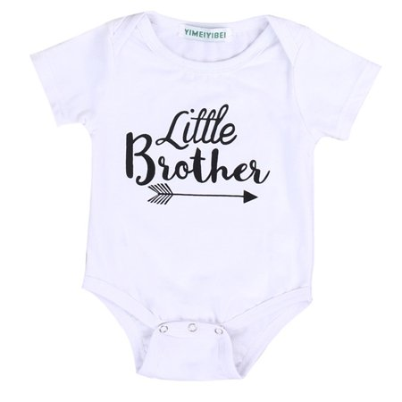 Toddler Kids Baby Little Brother Boys Romper Bodysuit Big Sister Girls Tops T-shirt Cotton Outfits Clothes