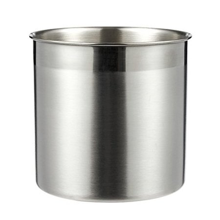Utensil Holder Cutlery Caddy Stainless Steel Cooking For Kitchen Organizing And Storage Silver 5 X Inches